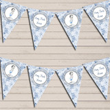 Floral Shabby Chic Vintage Baby Boy Blue Baby Shower Bunting