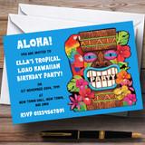 Blue Tropical Luau Hawaiian Customised Party Invitations