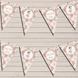 Floral Shabby Chic Vintage Baby Girl Pink Baby Shower Bunting