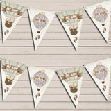Hot Air Balloon Teddy Bear Vintage Baby Shower Baby Shower Bunting