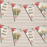 Peter Rabbit Rustic Vintage Shabby Chic Floral Baby Shower Bunting