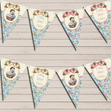 Shabby Chic Floral Vintage Baby Boy & Girl Twins Baby Shower Bunting