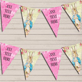 Shabby Chic Vintage Peter Rabbit Pink Baby Shower Bunting