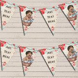 Vintage Shabby Chic Floral Brown Dark Skinned Girl Boy Twins Baby Shower Bunting