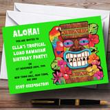 Green Tropical Luau Hawaiian Customised Party Invitations