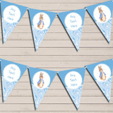 Baby Blue Peter Rabbit Marble Baby Shower Bunting