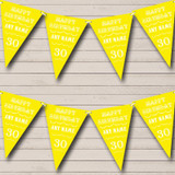 Vintage Text Any Age Birthday Yellow Birthday Party Bunting