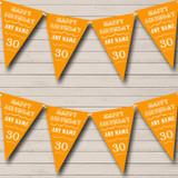 Vintage Text Any Age Birthday Orange Birthday Party Bunting