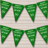 Vintage Text Any Age Birthday Green Birthday Party Bunting