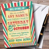 Vintage Carnival Old Style Circus Birthday Party Customised Invitations