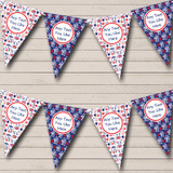 Red And Blue London Birthday Party Bunting