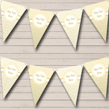 Elegant White And Gold Birthday Party Bunting