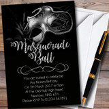 Silver Glitter Mask Masquerade Ball Customised Party Invitations
