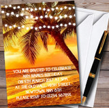 Sunset Beach Lights Customised Party Invitations