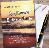 Sunset Beach Customised Party Invitations