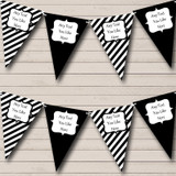 Black And White Stripes Birthday Party Bunting