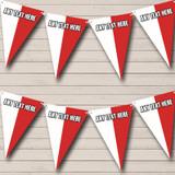 Polish Flag Poland Birthday Party Bunting