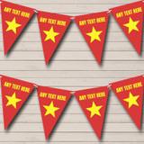 Vietnam Flag Birthday Party Bunting