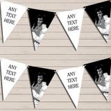 Black White Elvis Presley Birthday Bunting Garland Party Banner