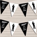 James Bond Black & White Birthday Bunting Garland Party Banner