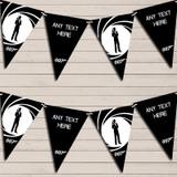 James Bond White Black Birthday Bunting Garland Party Banner