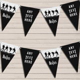 The Beatles Black Grey Birthday Bunting Garland Party Banner