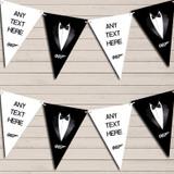 Tuxedo Prom James Bond Birthday Bunting Garland Party Banner