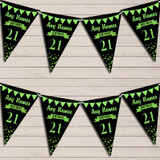 Any Age Birthday 18Th 21st 30th 40th 50th 60th Black & Green Birthday Bunting