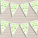 Any Age Birthday 18Th 21st 30th 40th 50th 60th Bright Green Birthday Bunting