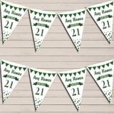 Any Age Birthday 18Th 21st 30th 40th 50th 60th Dark Green Birthday Bunting