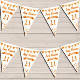 Any Age Birthday 18Th 21st 30th 40th 50th 60th Orange Birthday Bunting