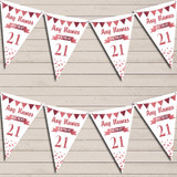 Any Age Birthday 18Th 21st 30th 40th 50th 60th Rose Gold Birthday Bunting