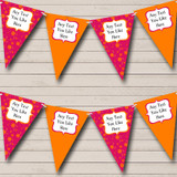 Pink And Orange Carnival Fete Street Party Bunting
