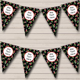 Black Strawberry Carnival Fete Street Party Bunting
