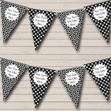 Black Spots And Polkadot Carnival Fete Street Party Bunting