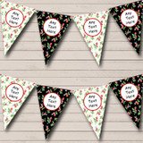 Black Cream Strawberry Carnival Fete Street Party Bunting
