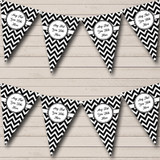 Black And White Chevrons Carnival Fete Street Party Bunting