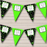 Black And Green Stars Carnival Fete Street Party Bunting