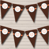Black And Bright Coral Patterned Carnival Fete Street Party Bunting