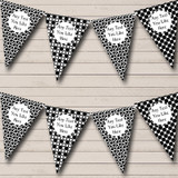 Black & White Spots And Polkadot Carnival Fete Street Party Bunting
