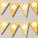 Big Spots And Stripes Yellow Carnival Fete Street Party Bunting