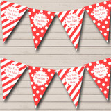 Big Spots And Stripes Red Carnival Fete Street Party Bunting