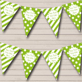 Big Spots And Stripes Green Carnival Fete Street Party Bunting