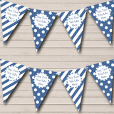 Big Spots And Stripes Blue Carnival Fete Street Party Bunting