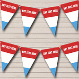 Luxembourg Flag Carnival, Fete & Street Party Bunting