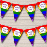Rainbow Stripes Bright Gay Pride Carnival, Fete Bunting
