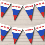 Russian Flag Russia Carnival, Fete & Street Party Bunting