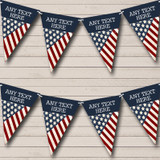 USA American Flag Vintage 4th July Carnival Bunting
