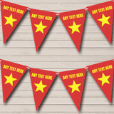 Vietnam Flag Carnival, Fete & Street Party Bunting
