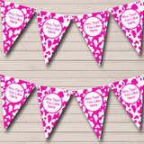 Cow Print Animal Pink & White Children's Birthday Party Bunting